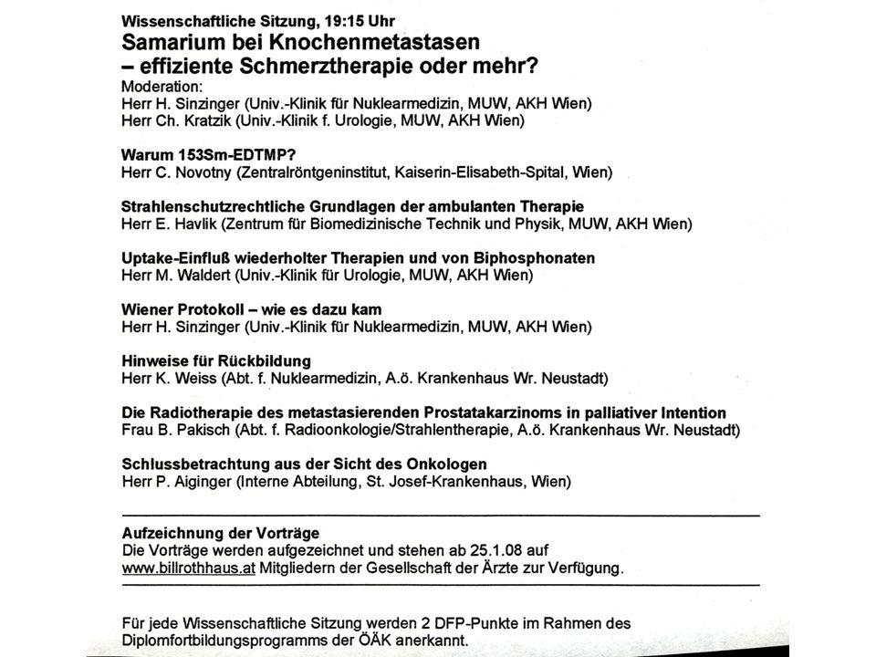 WIENER PROTOKOLL - WIE ES DAZU KAM H.Sinzinger Entwickelt unter Mithilfe von W.