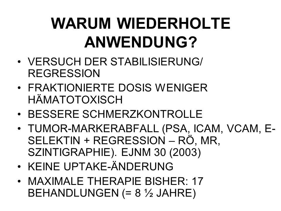WARUM WIEDERHOLTE ANWENDUNG.