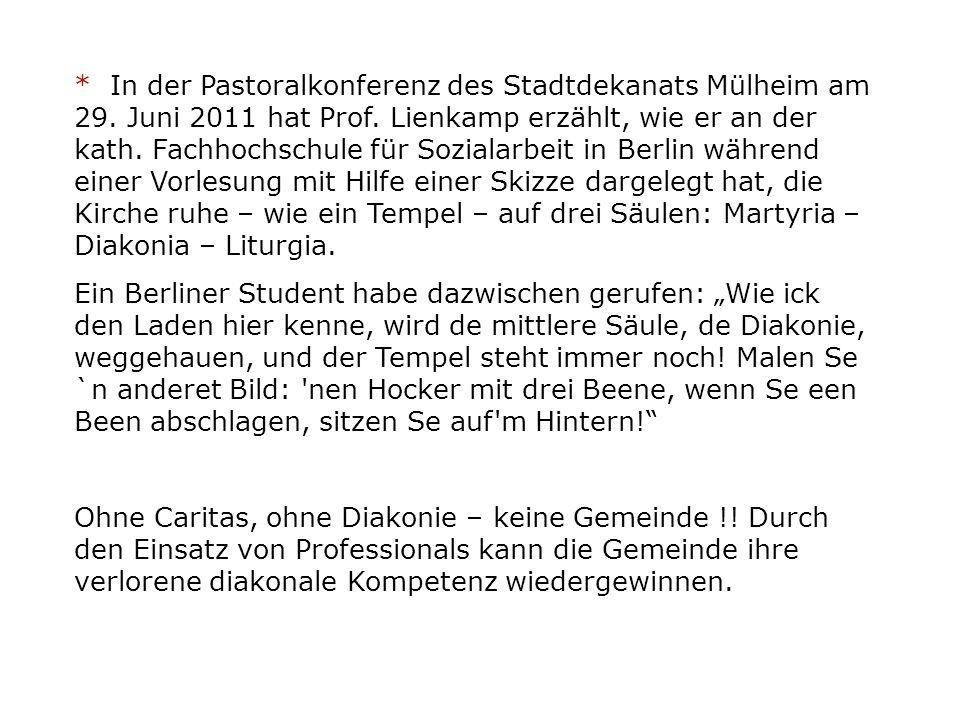 * In der Pastoralkonferenz des Stadtdekanats Mülheim am 29.