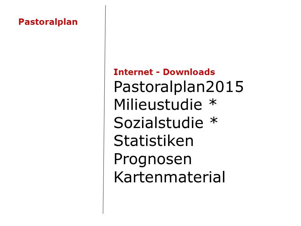 Internet - Downloads Pastoralplan2015 Milieustudie * Sozialstudie * Statistiken Prognosen Kartenmaterial Pastoralplan