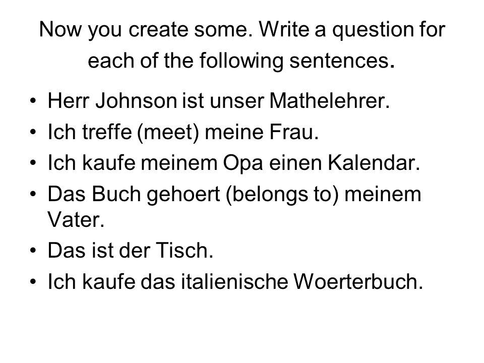 The answers Wer ist unser Mathelehrer.Wen treffst du?.