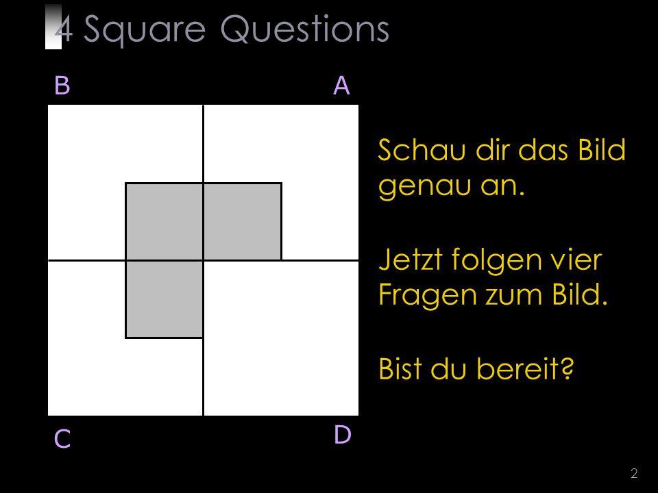 2 Schau dir das Bild genau an. Jetzt folgen vier Fragen zum Bild.