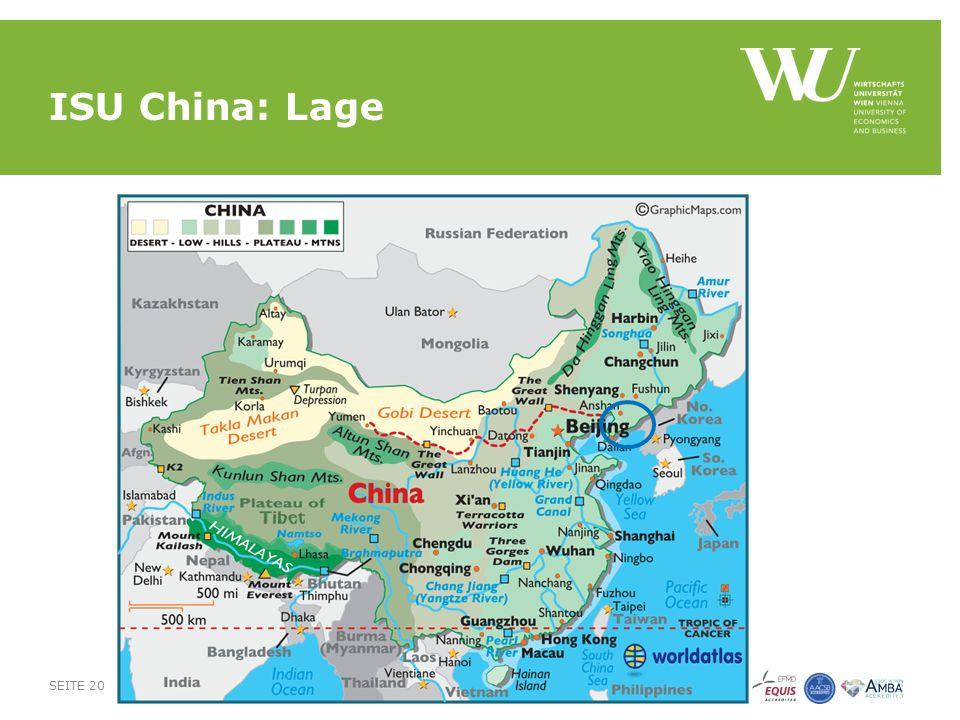 ISU China: Lage SEITE 20