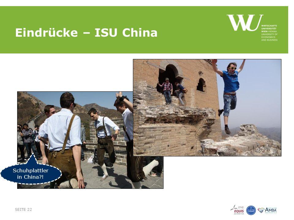 Eindrücke – ISU China SEITE 22 Schuhplattler in China !