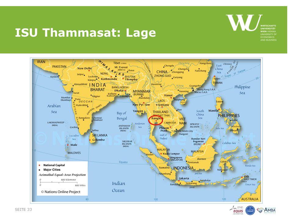 ISU Thammasat: Lage SEITE 33