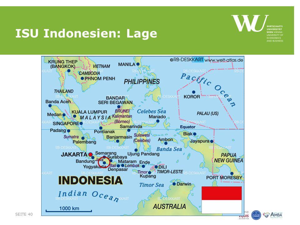 ISU Indonesien: Lage SEITE 40