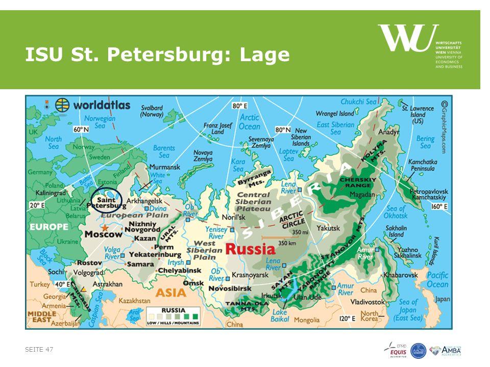 ISU St. Petersburg: Lage SEITE 47
