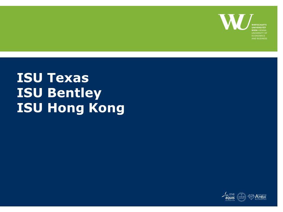 ISU Texas ISU Bentley ISU Hong Kong