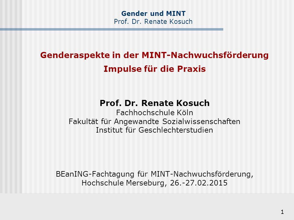12 Gender und MINT Prof.Dr.