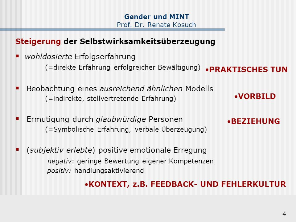 15 Gender und MINT Prof.Dr. Renate Kosuch © F.