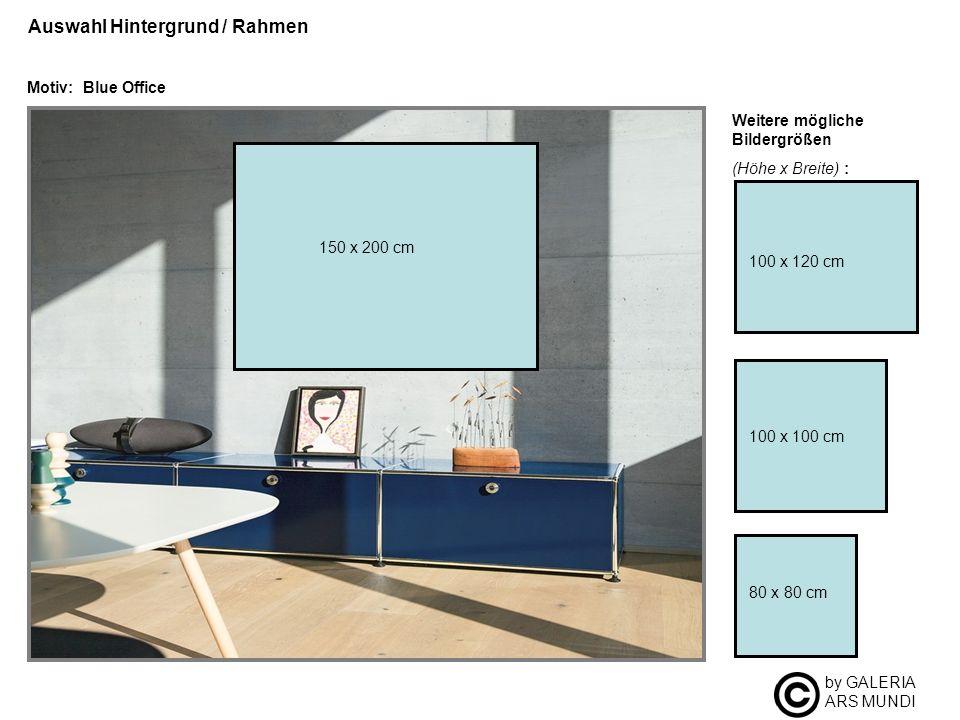 by GALERIA ARS MUNDI Auswahl Hintergrund / Rahmen Motiv: Blue Office Weitere mögliche Bildergrößen (Höhe x Breite) : 100 x 100 cm 80 x 80 cm 100 x 120