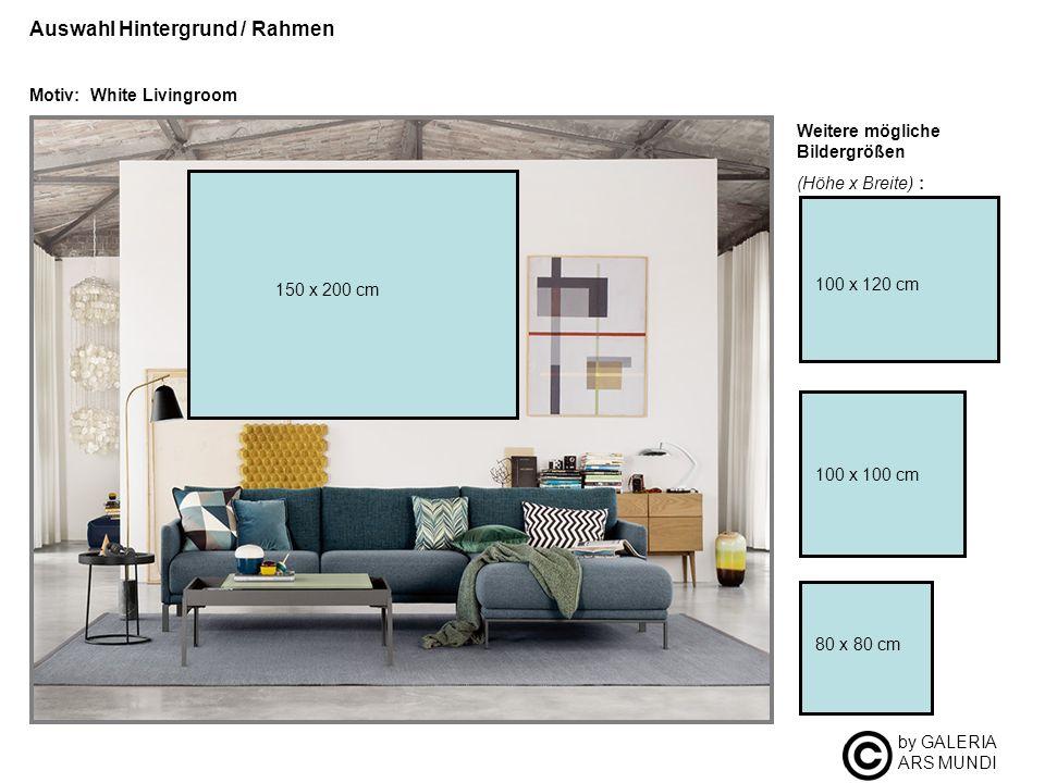 by GALERIA ARS MUNDI Auswahl Hintergrund / Rahmen Motiv: White Livingroom Weitere mögliche Bildergrößen (Höhe x Breite) : 100 x 100 cm 80 x 80 cm 100