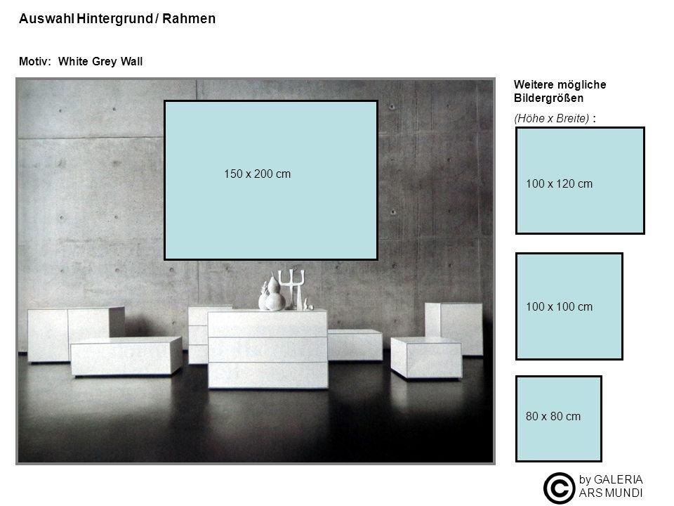 by GALERIA ARS MUNDI Auswahl Hintergrund / Rahmen Motiv: White Grey Wall Weitere mögliche Bildergrößen (Höhe x Breite) : 100 x 100 cm 80 x 80 cm 100 x