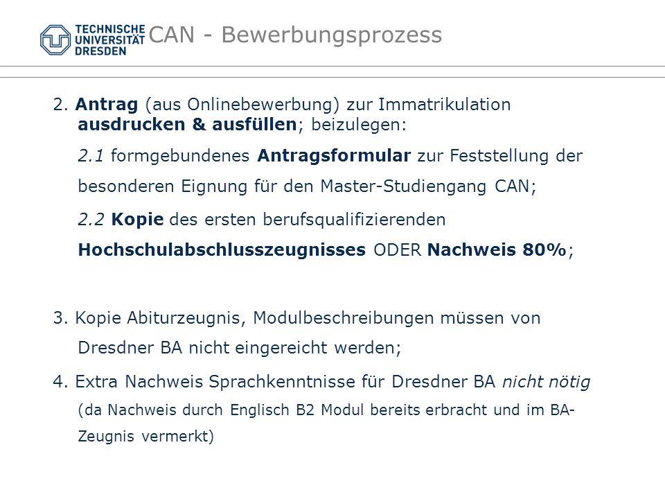 2. Antrag (aus Onlinebewerbung) zur Immatrikulation ausdrucken & ausfüllen; beizulegen: 2.1 formgebundenes Antragsformular zur Feststellung der besond