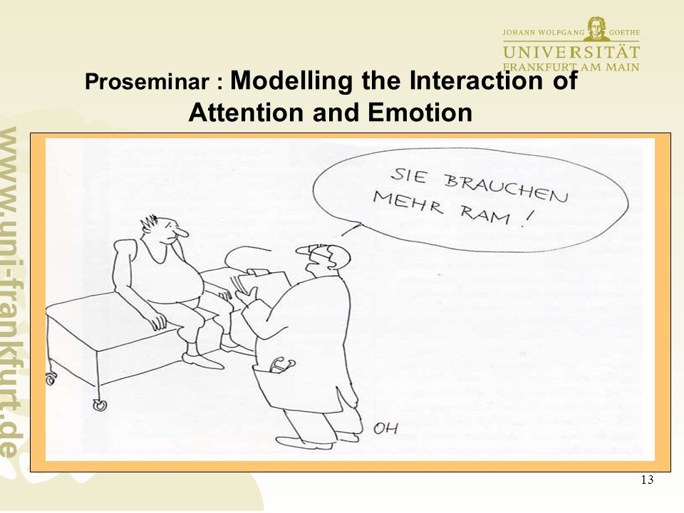 13 Proseminar : Modelling the Interaction of Attention and Emotion