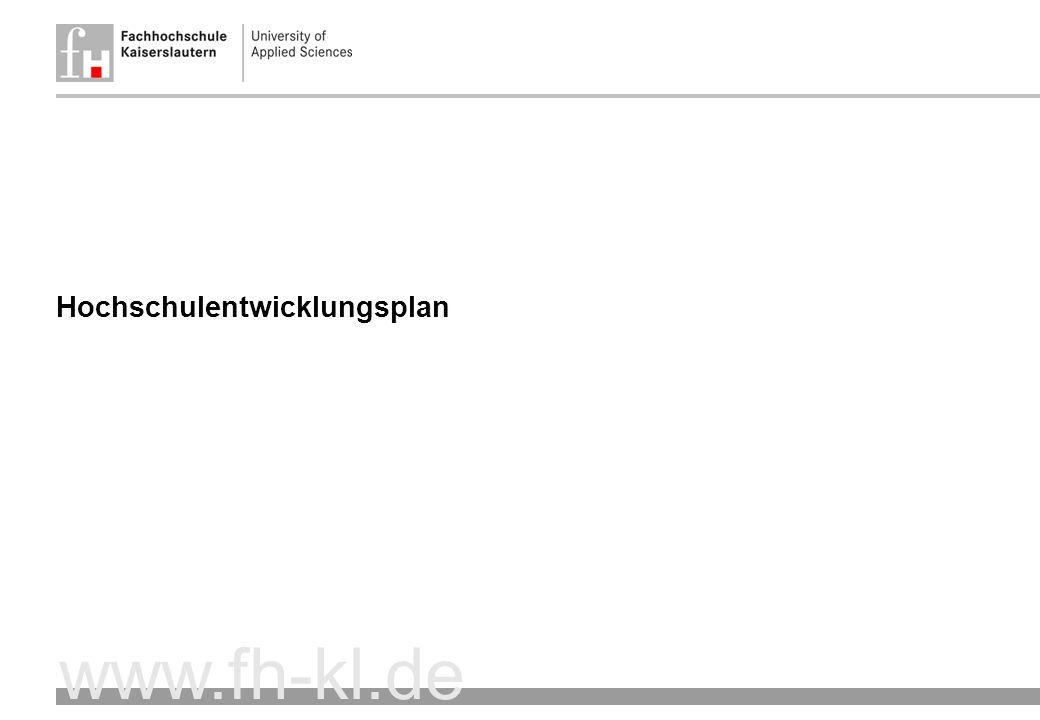 www.fh-kl.de Hochschulentwicklungsplan