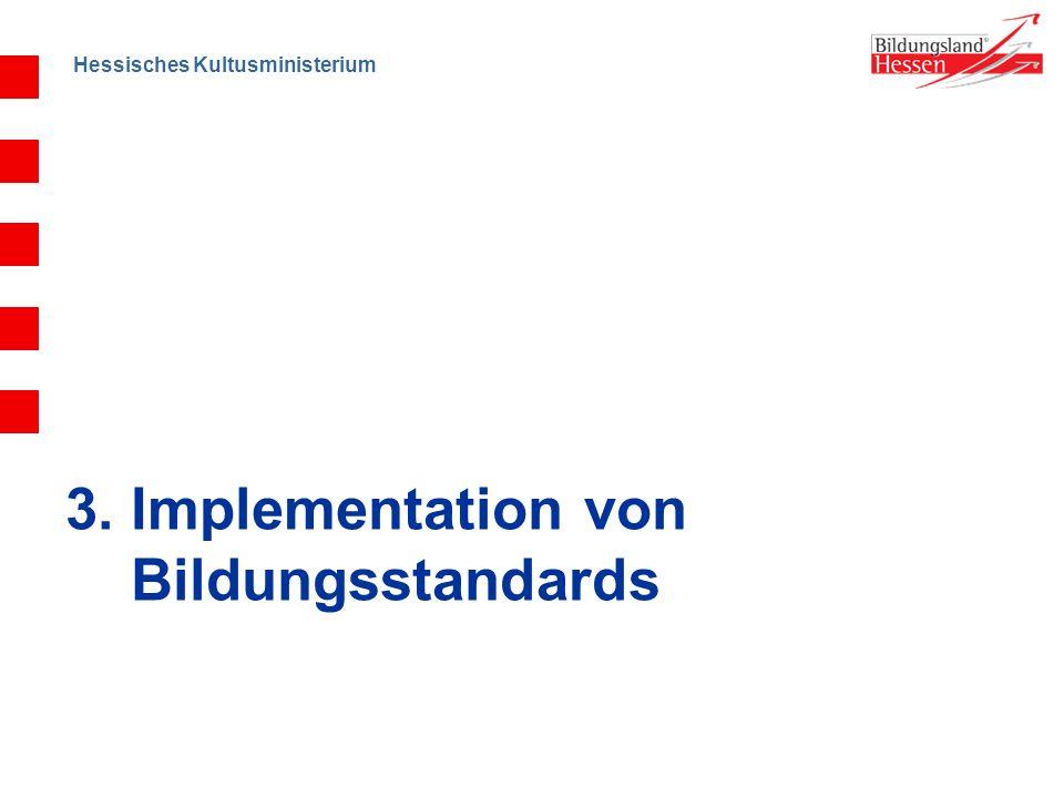 Hessisches Kultusministerium 3. Implementation von Bildungsstandards