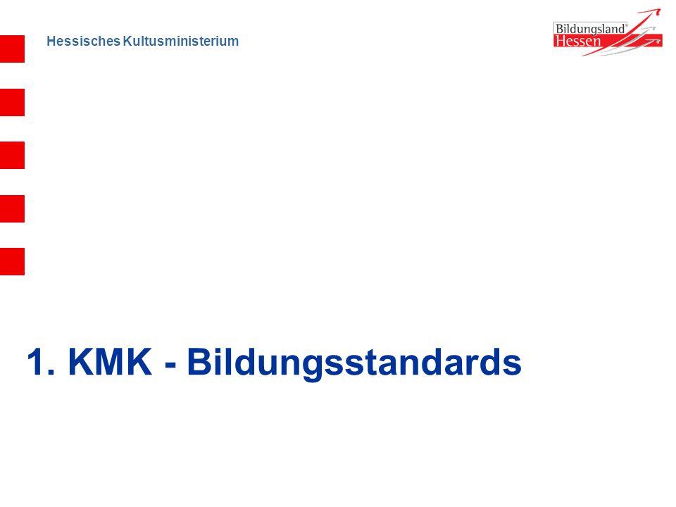 Hessisches Kultusministerium 1. KMK - Bildungsstandards