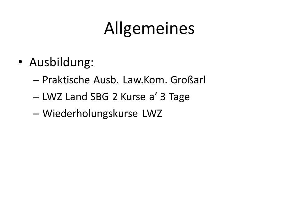 Allgemeines Ausbildung: – Praktische Ausb. Law.Kom.