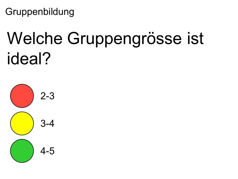 Welche Gruppengrösse ist ideal Gruppenbildung 2-3 3-4 4-5