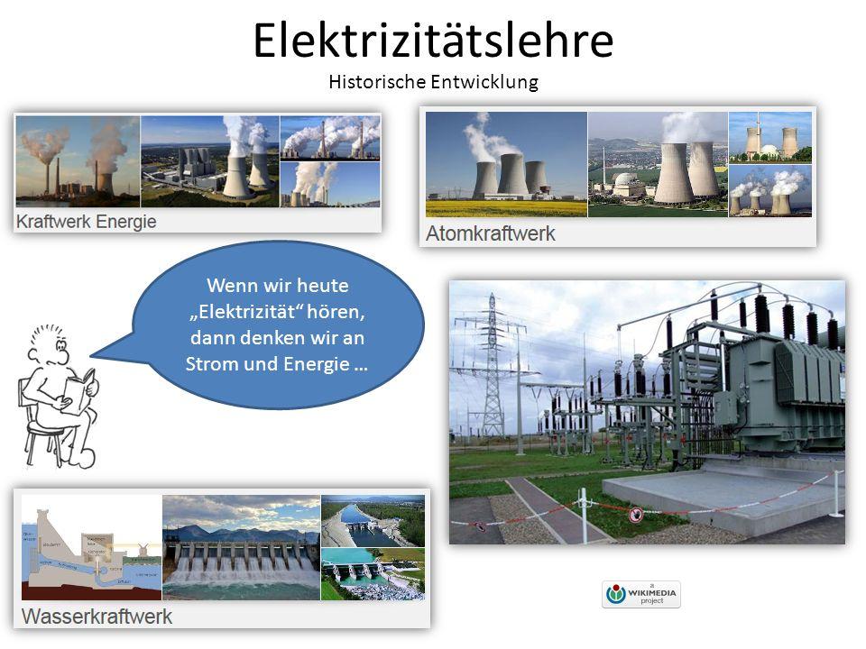 """Elektrizitätslehre Historische Entwicklung Wenn wir heute """"Elektrizität hören, dann denken wir an Strom und Energie …"""