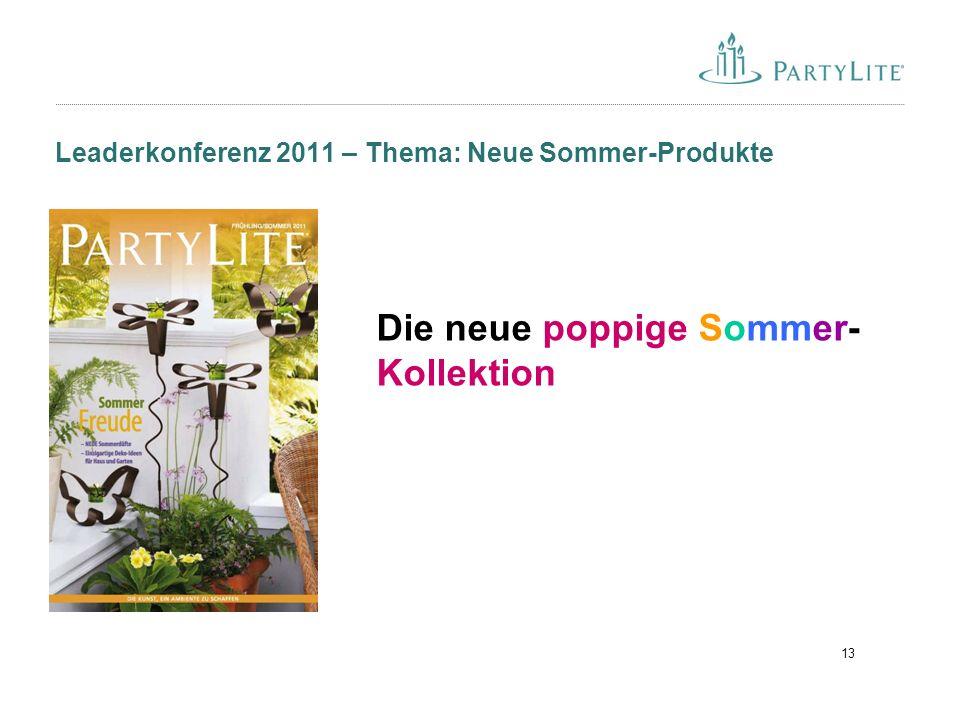 13 Leaderkonferenz 2011 – Thema: Neue Sommer-Produkte Die neue poppige Sommer- Kollektion