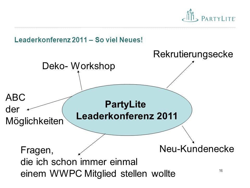 16 Leaderkonferenz 2011 – So viel Neues.