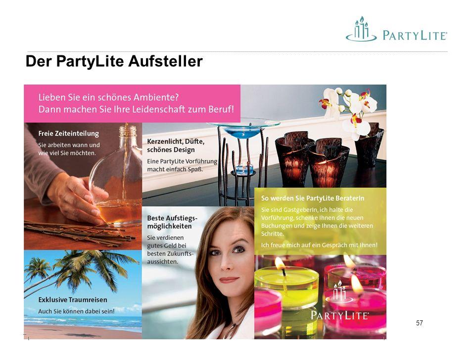 57 Der PartyLite Aufsteller