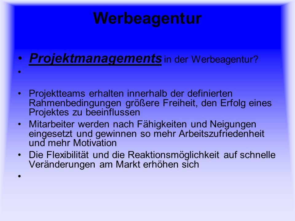 Werbeagentur Projektmanagements in der Werbeagentur.