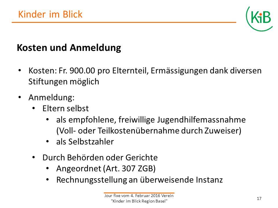 Kosten und Anmeldung Kosten: Fr.