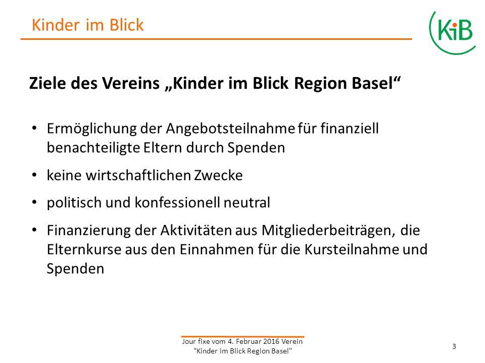 """Eckdaten Verein """"Kinder im Blick Region Basel Vereinsgründung: 03.02.2015 Vorstandsmitglieder: Regula Diehl, Co-Präsidium Dr."""
