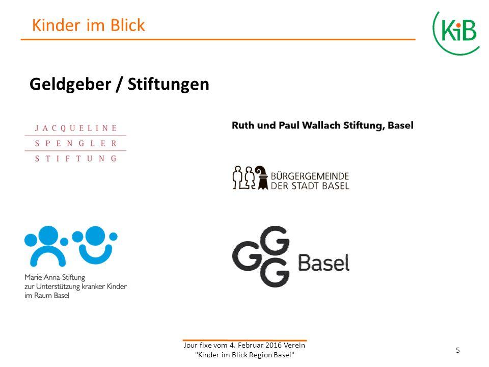 Geldgeber / Stiftungen Jour fixe vom 4.