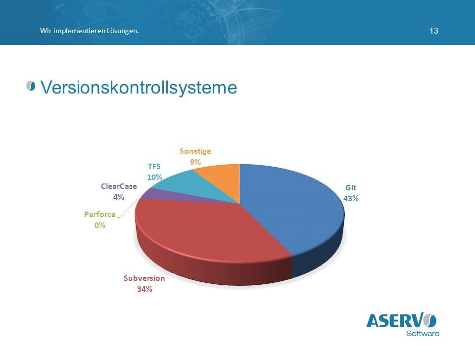 Versionskontrollsysteme Wir implementieren Lösungen.13