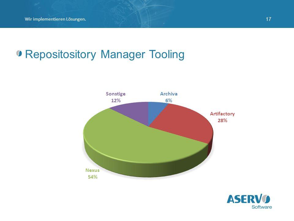 Repositository Manager Tooling Wir implementieren Lösungen.17