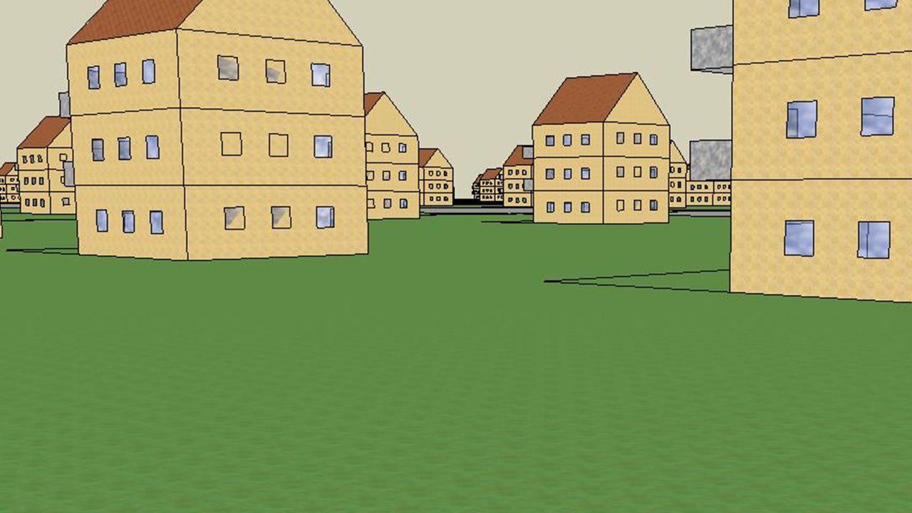 Architektur, Bauweise und Entstehung Mit Google Sketchup Zuerst einzelne Häuser gebaut Dann kopiert und Strassen gebaut Ich zeige euch gerne, wie man mit Google Sketchup arbeitet.