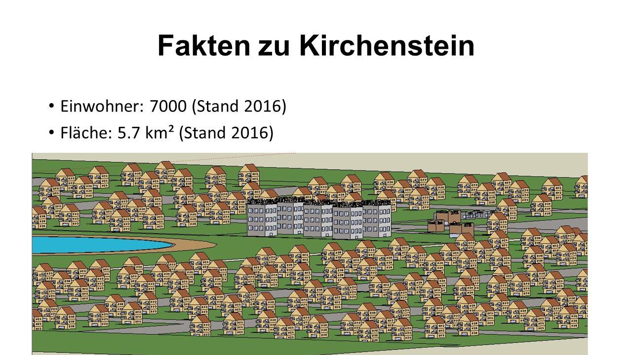Fakten zu Kirchenstein Einwohner: 7000 (Stand 2016) Fläche: 5.7 km² (Stand 2016)