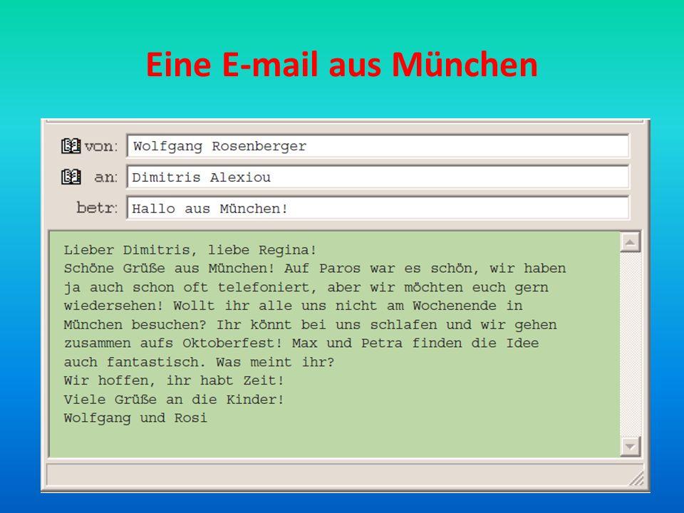 1.Wo wohnt Familie Rosenberger. Sie wohnt in München___________________________________ 2.