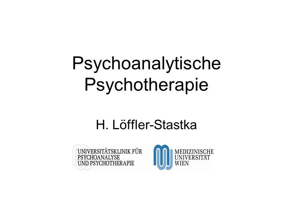 Psychoanalytische Psychotherapie H. Löffler-Stastka