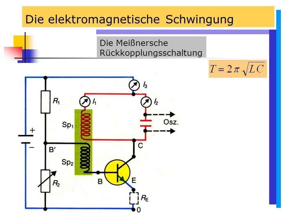 Die elektromagnetische Schwingung Die Meißnersche Rückkopplungsschaltung
