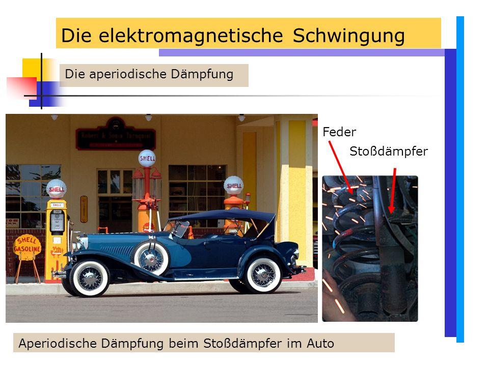 Die elektromagnetische Schwingung Die aperiodische Dämpfung Aperiodische Dämpfung beim Stoßdämpfer im Auto Feder Stoßdämpfer