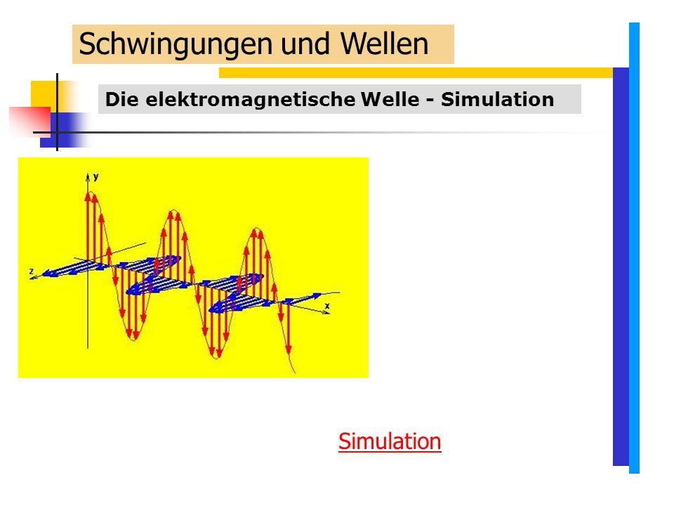 Die elektromagnetische Welle - Simulation Schwingungen und Wellen Simulation