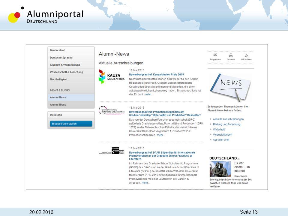 Seite 13 www.alumniportal-deutschland.org 20.02.2016