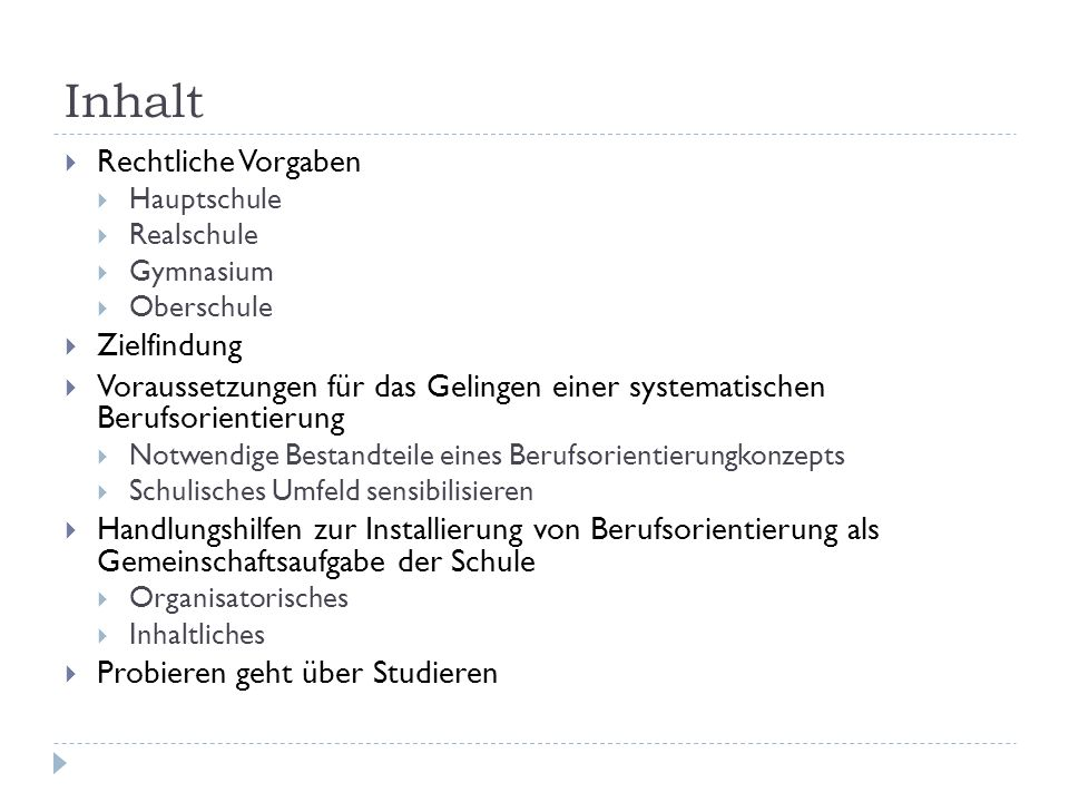 Rechtliche Vorgaben 1.
