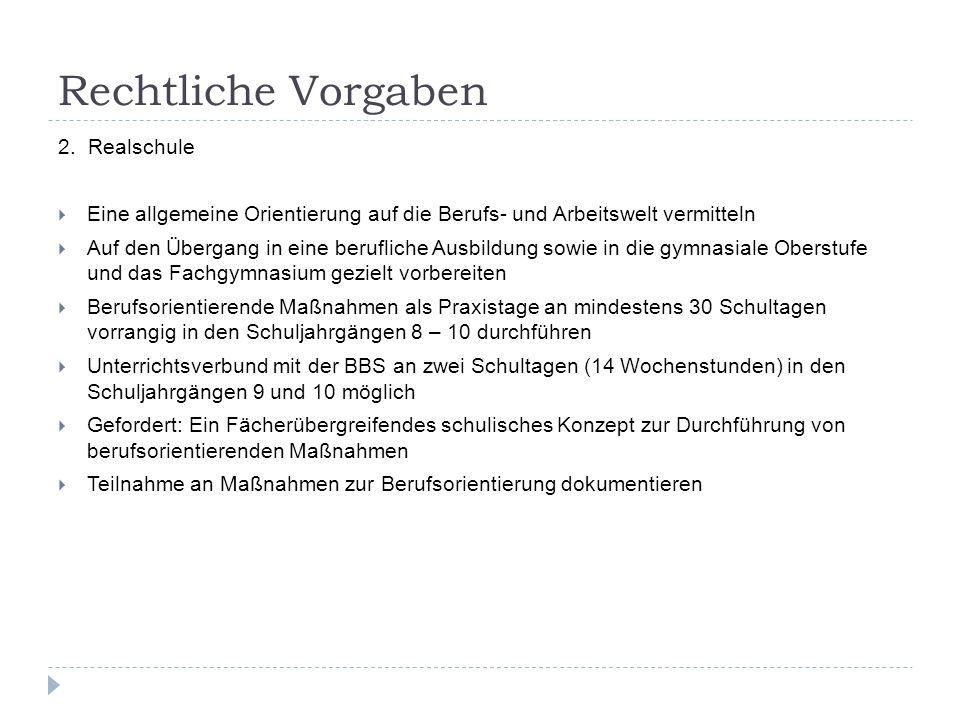 Rechtliche Vorgaben 2.