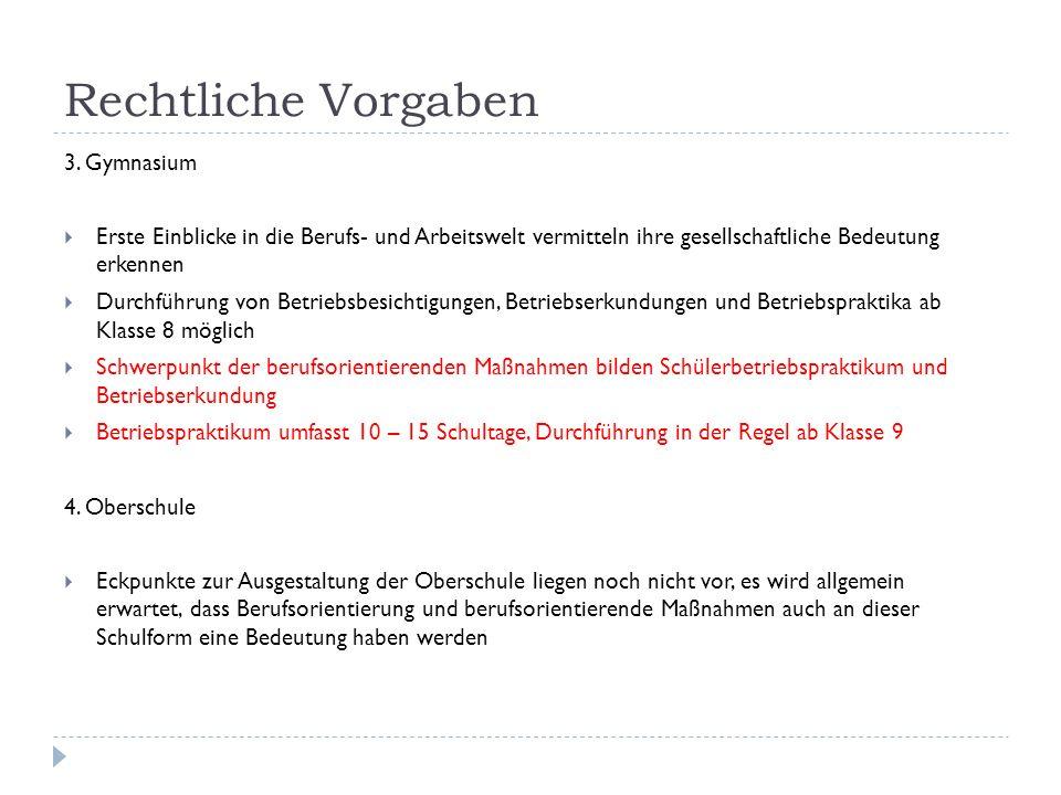 Rechtliche Vorgaben 3.