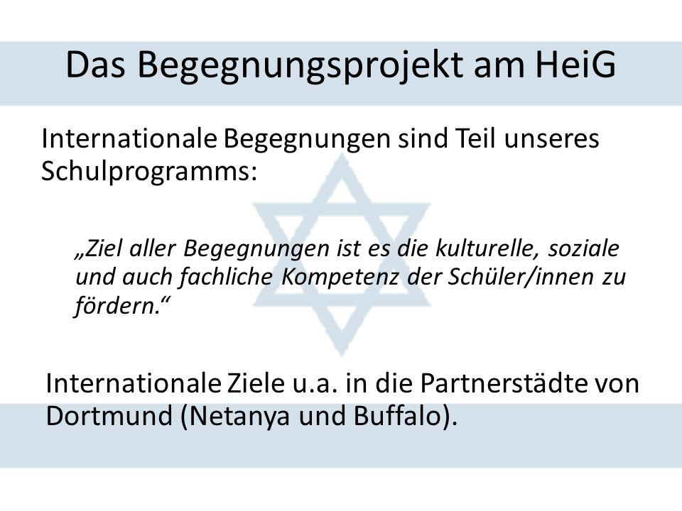 Planung und Vorbereitungen Zweiteilung des Aufenthaltes: a.Leben in Gastfamilien in Netanya b.Rundreise: Israel Thematische Auseinandersetzung mit dem Zielland: a.Referate bei Vorbereitungstreffen b.Z.B.