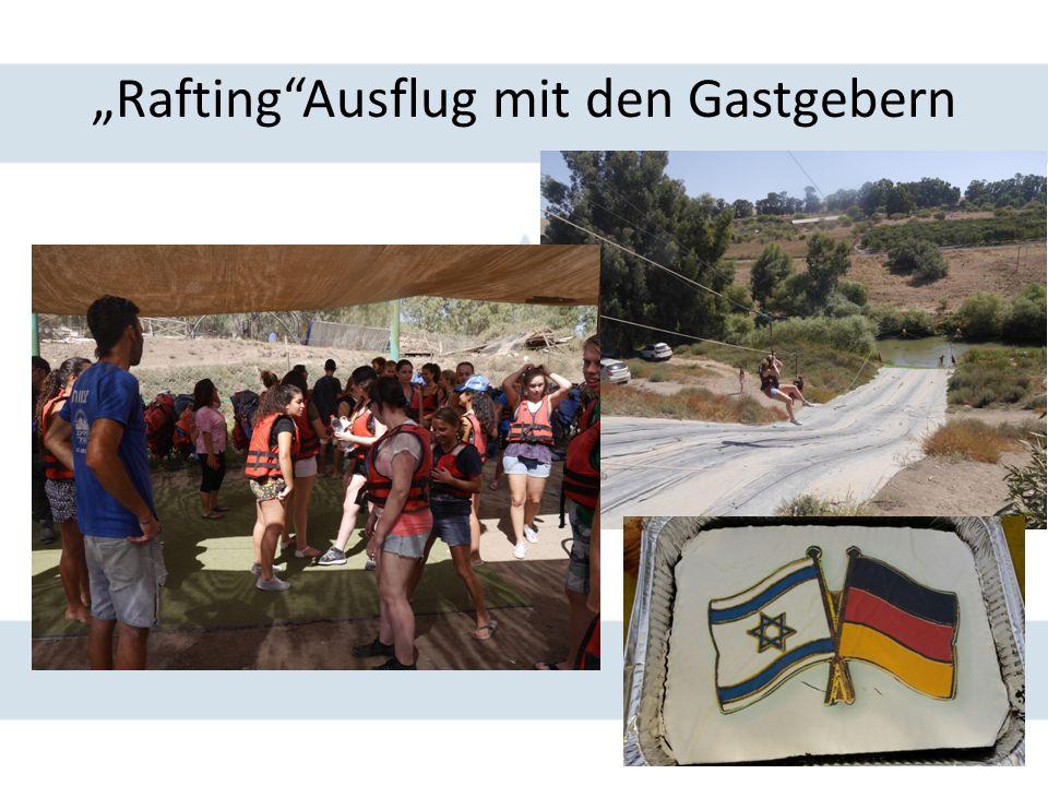 """""""Rafting""""Ausflug mit den Gastgebern"""