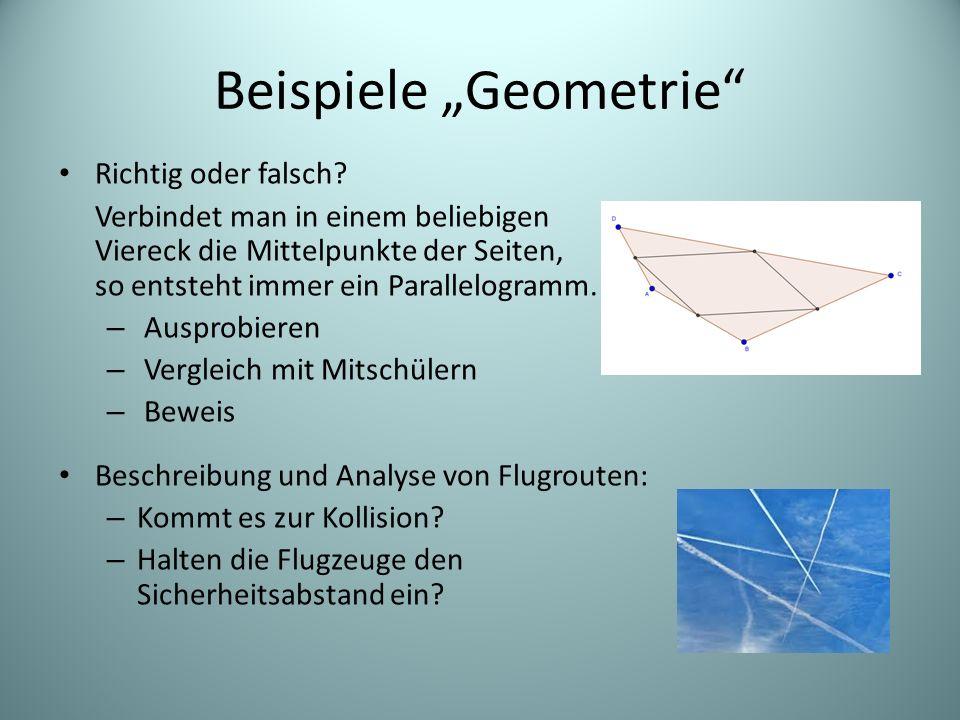 """Beispiele """"Geometrie"""" Richtig oder falsch? Verbindet man in einem beliebigen Viereck die Mittelpunkte der Seiten, so entsteht immer ein Parallelogramm"""
