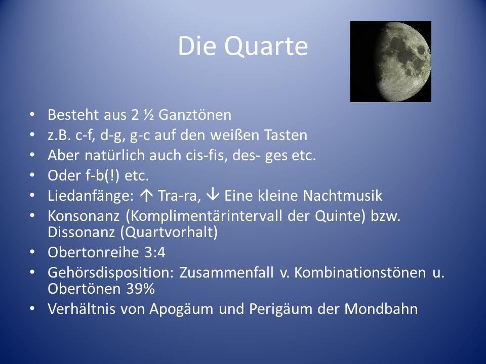 Der Tritonus 3 Ganztonschritte Übermäßige Quarte bzw.