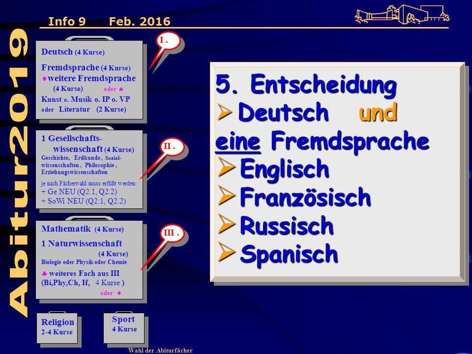 Wahl der Abiturfächer 5.